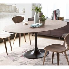 """Height: 28.25"""" Width: 77.25"""" Depth: 47.75"""" PV001 - Walnut / Natural PV002 - White Oak / Natural PV005 - Rosewood / Natural Norman Bentwood Chair $249.00 Sa..."""