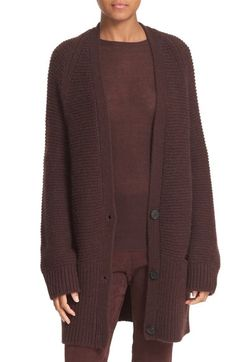 Vince Wool & Cashmere Long V-Neck Cardigan available at #Nordstrom
