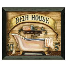 I pinned this Bath House Framed Print from the Spa Serenity event at Joss and Main!