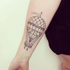 This with a small ship tied to it! Tattoo Henna, Hair Tattoos, Sister Tattoos, Love Tattoos, Tattoo You, Body Art Tattoos, Small Tattoos, Air Balloon Tattoo, Surreal Tattoo