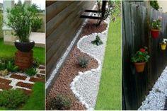 25 krásnych nápadov, ako skrášliť na jar záhradu pomocou obyčajného štrku! Boarders, Creative Home, Walkway, Backyard Landscaping, Shag Rug, Stepping Stones, Garden Design, Landscape, Outdoor Decor
