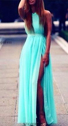 Modest Prom Dresses,Light Blue Prom Dress,Sexy Prom Gown,Simple Prom Dresses,Evening Gowns,2018 Evening Dresses PD20184306