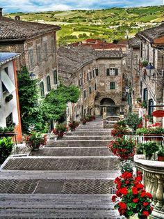 From the top of the stairs, Corinaldo, Italy  Photo by : Dario Sangiorgi