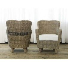 Cotton Club Chair from Rococo Design.  Perfect to place in the corner or put outside undercover.