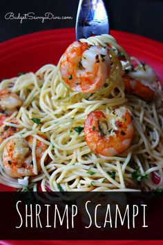 Shrimp Scampi Recipe from Budget Savvy Diva