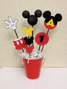Centro de mesa cumpleaños Mickey Mouse  o Baby Shower