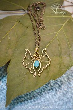 "I'm on Etsy: https://www.etsy.com/shop/Strangell  Кулон ""Мотылек"". Brass pendant ""Butterfly""."