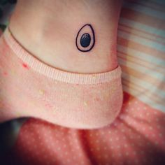 Pin for Later: 16 Tattoo Ideas For the Truly Avocado Obsessed Ankle Avocado