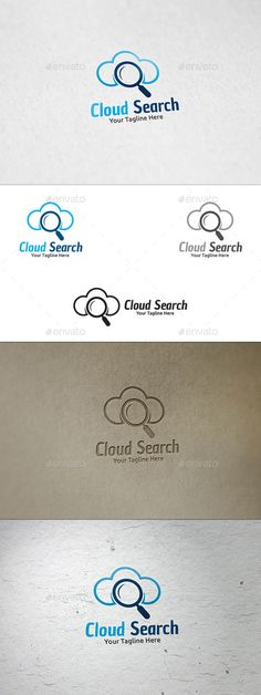 Cloud Search  - Logo Design Template Vector #logotype Download it here: http://graphicriver.net/item/cloud-search-logo-template/8897652?s_rank=1462?ref=nesto