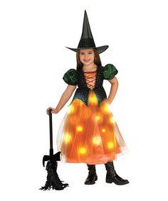 Orange & Green Witch Light-Up Dress-Up Outfit - Toddler & Girls #zulily #zulilyfinds