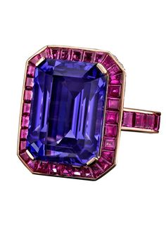 Sapphire and ruby ring.