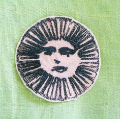 Sunny Face Embroidered Patch