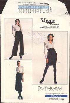 80s Vogue American Designer 2217 Donna Karan by patternscentral