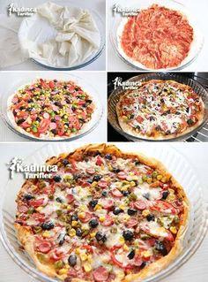 Hazır Yufkadan Kolay Pizza Tarifi