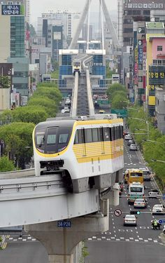 Monorail passing through Daegu South Korea [OS] [600955]
