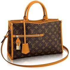 Introducing the Louis Vuitton Popincourt Tote ❤ liked on Polyvore featuring bags, handbags, tote bags, leather totes, brown leather handbags, leather handbag tote, monogrammed tote bags and monogram tote