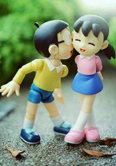 Love Cartoon Couple, Cute Cartoon Pictures, Cute Cartoon Girl, Cute Love Pictures, Cute Love Cartoons, Baby Cartoon Drawing, Doremon Cartoon, Cute Love Wallpapers, Cute Couple Wallpaper