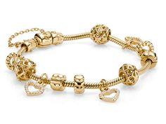 Gorgeous Gold Pandora Bracelet !!!