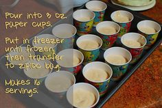 Almost Frosty Paws – Dog Ice Cream Recipe....my babies will love this!