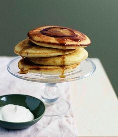 Australian Gourmet Traveller breakfast recipe for apple-maple buttermilk hotcakes
