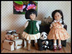 "2 petites poupées ""kindergartner ""de Ruby red Mia et Ten Ping"