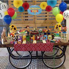 Festinha fofa com tema Toy Story por @izabelfigueirasguerra  #kikidsparty