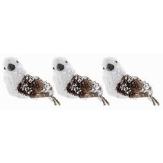Brown, White & Black Polyfoam Bird Ornaments