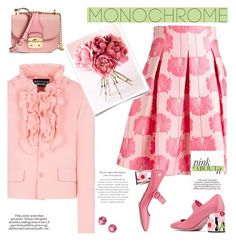 Color Me Pretty: Head-to-Toe Pink by slavicabojanovic on Polyvore featuring polyvore fashion style Boutique Moschino P.A.R.O.S.H. Prada Loeffler Randall Miu Miu Ippolita clothing monochromepink