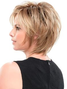 Straight Blonde Synthetic Layered Hairstyles For Short Hair - Hair Styles Short Hairstyles For Thick Hair, Very Short Hair, Short Hair Cuts, Curly Hair Styles, Cool Hairstyles, Natural Hair Styles, Layered Hairstyles, Pixie Hairstyles, Hairstyles Pictures