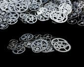 10x LARGE  1 Inch (25mm) Stainless Steel Gears. $12.00, via Etsy.
