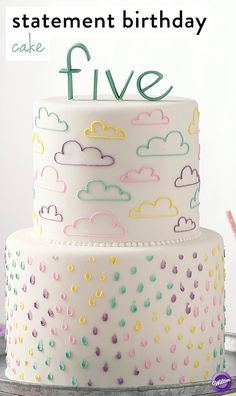 Cute statement birthday cake that features a stylized lettering with bold font styles and fun sayings.