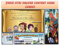 Tap into the world of comics: visual presentation with different tools to create comics  as well as several ideas to use them in the classroom.