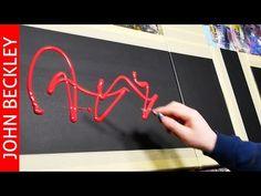 Demostración de pintura de arte abstracto | Sololeo - YouTube