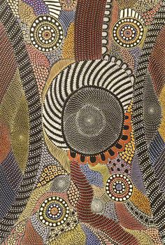 Amazing Australian Aboriginal Artwork by Anna Price Petyarre / My Country is the title of the painting. Tap to view now! Aboriginal Dot Painting, Aboriginal Artists, Dot Art Painting, Oil Painting Tips, Watercolor Paintings Abstract, Abstract Art, Indigenous Australian Art, Indigenous Art, Kunst Der Aborigines