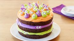This fun, bright and crazy cake will have the kids wide eyed with excitement.