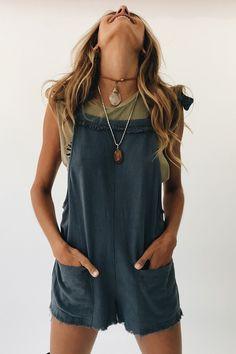 ce2608382eb REVOLVER LINEN ROMPER // LAKE - Verge Girl Black Romper Outfit, Romper  Casual,