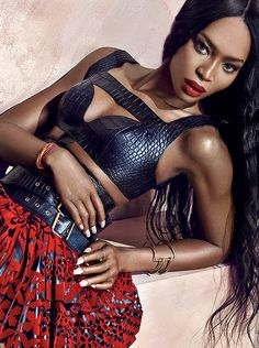 Wearing McQueen: Naomi Campbell by An Le for Harper's Bazaar Vietnam June 2014