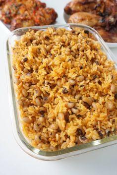 Coconut rice and beans jollof rice