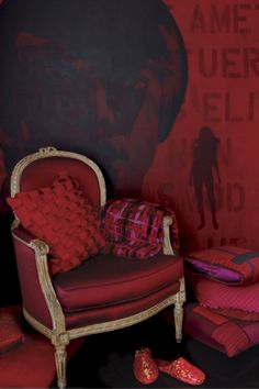 red chair red room