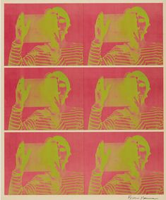 Bruce Nauman, Untitled, Made of Offset lithograph in colors, on Kromekote paper, with full margins Graphic Prints, Graphic Art, Magazine Art, Art Market, American Art, Pink And Green, Paper, Artworks, Artists