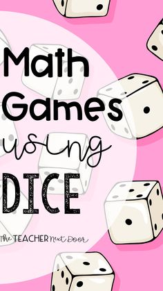 Find lots of FREE, fun math games using dice ideas in this post for teachers of - grade students. These engaging math games help upper elementary students practice place value, fractions… Printable Math Games, Free Math Games, Math Card Games, Math Games For Kids, Fun Math, Math Games With Dice, Place Value Math Games, Math Bingo, Math Math