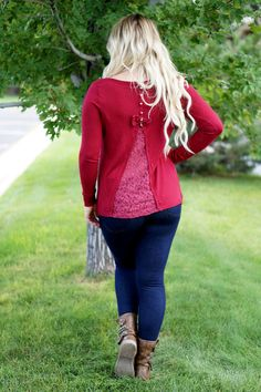 Burgundy Bow Back Cashmere Sweater