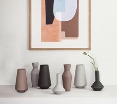 This Abstraction graphic makes a great combination with the Sculpt vases by ferm Living Vase Design, Deco Design, Interior Styling, Interior Design, Interior Office, Design Minimalista, Family Room Design, Art Abstrait, My New Room