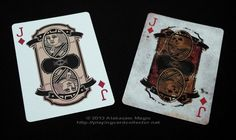Bicycle Dr Jekyll and Mr Hyde Playing Cards - Jack of Diamonds | more here: http://playingcardcollector.net/2013/08/20/bicycle-dr-jekyll-and-mr-hyde-playing-cards/