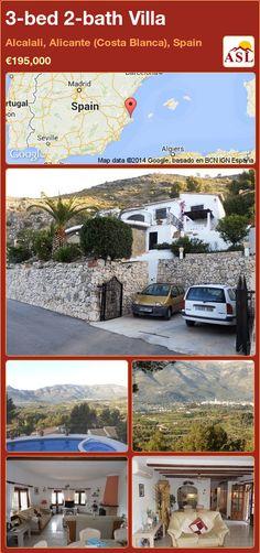 3-bed 2-bath Villa in Alcalali, Alicante (Costa Blanca), Spain ►€195,000 #PropertyForSaleInSpain