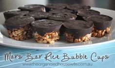 Mars Bar Rice Bubble Slice - The Organised Housewife : Ideas for organising, decluttering and cleaning your home