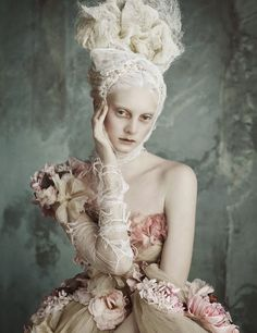 "Vogue Germany April 2014...""Opulenze a la Marie Antoinette"" Models in Dolce & Gabbana Haute Couture for Vogue Germany April 2014"