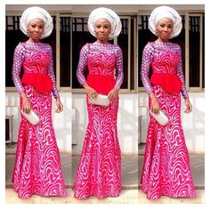 Top Ten Beautiful French Lace Aso Ebi Styles For Ladies  Dabonke