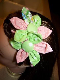 Flower headband for children or adults Pink and by civilwarlady