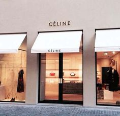 Shop awning, clothing store interior, awning over door, canvas awnings, par Signage Design, Facade Design, Exterior Design, Shop Interior Design, Retail Design, Store Design, Metal Facade, Shop Awning, Celine